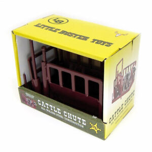 1/16 Little Buster Toys Red Cattle Metal Squeeze Chute 500234