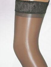 2 pairs Smokey Black Grey Sheer Hold Ups Stockings. Size 12-14