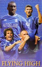 Chelsea FC FLYING HIGH (2001) Vintage Original POSTER - Zola, Hasselbaink, Poyet