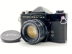 [Exc+5] Pentax Spotmatic SP Black SLR w/ Super Takumar 55mm F1.8 Lens from JAPAN