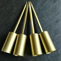 4 Adventskranzstecker 12cm Schwer Gold Kerzenhalter langer Dorn Adventskranz