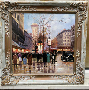 1920s FRENCH IMPRESSIONIST OIL PAINTING ON PANEL SIGNED - Emile BOYER - STUNNING