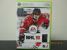 NHL 10  (Xbox 360, 2009) *Tested/Complete/Mint