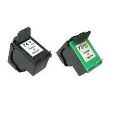 HP74+HP75 BLACK&COLOR Refilled Ink Cart Phtotsmart C4225 C4240 C4280 C4380 C5225