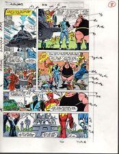Original 1989 Avengers 312 page 8 Marvel Comics color guide comic artwork:1980's