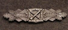 GERMAN WWII CLOSE COMBAT CLASP IN SUBDUED SILVER BRD  WEHRMACHT VETERANS