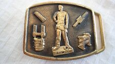 Vintage Armco Belt Buckle Advertising Bronze