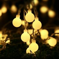 LED Ball Bulb String Lights Fairy Battery Powered Party Xmas Wedding Party Decor