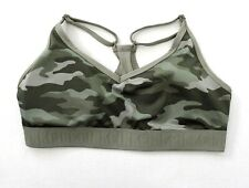 Victoria's Secret PINK Ultimate Lightly Lined Sports Bra L Earthy Camo Green