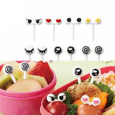 10 Pcs/lot Lovely Bento Decorative Cute Fruit Forks Eye Shape Food Picks