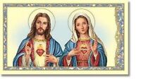 Religious Gift Jesus Christ Virgin Mary Prayer Sacred Immaculate Heart Holy Card