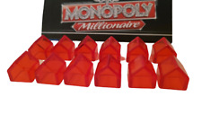 Monopoly Millionaire Replacement/ Spare - Full Set of 12 Red Hotels.