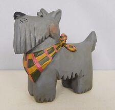 Scottish Terrier - New resin figurine with plaid bandana-Blossom Bucket #81672B