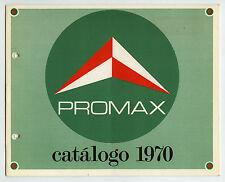 PROMAX - CATALOGO 1970 INSTRUMENTACION   ORIGINAL CATALOG