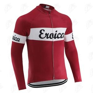 Spring Autumn Men Classic Retro Cycling Jersey Long Sleeve Outdoor Sports