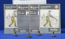 Axis & Allies Miniatures Contested Skies 4 Gurhka Riflemen 16/45 + Stat CardsUS9