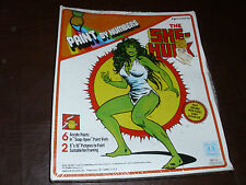 Vintage She-Hulk Paint By Numbers Set Hasbro Avengers Rare Marvelmania MIB 1980
