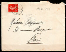 Algérie > France timbre français cachet type A4 ORAN 1908