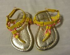 Baby Girls Sandals Shoes Yellow Size 4
