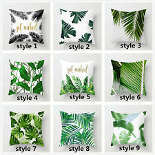 """Tropical Plant Leaves Pillow Cover 16""""/18""""/20""""/24""""Throw Pillow Case Cushion Cove"""