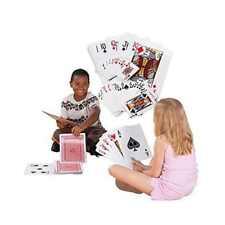 "Giant Jumbo Deck of Big Playing Cards Fun family Full Poker Game Set DIM 8""X12"""