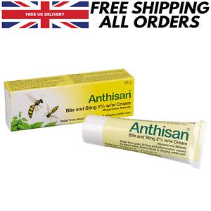 Anthisan Bite And Sting Cream 20g Insect Sting Relief Antihistamine