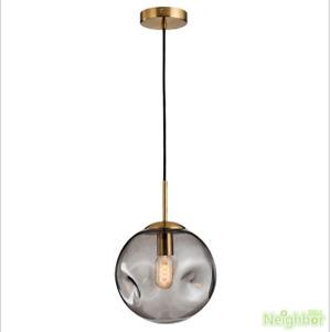 Concave glass ball Led pendant lamp Ceiling light restaurant Lighting chandelier