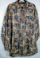 Vintage Woolrich Men's XL Tall Long Sleeve Camping Button Up