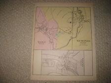 ANTIQUE 1884 NORWAY SOUTH PARIS ORONO MAINE HANDCOLORED MAP SUPERB DETAIL NR