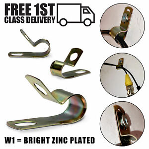 P Clips Unlined Metal Clamps Zinc Plated Mild Steel | Wire Fastener | Pack of 10