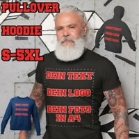 T-Shirt Druck Hoodie Pullover Wunschtext Logo bedrucken Geschenk mit Foto  S-5XL