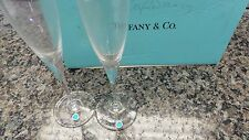 PAIR OF TIFFANY & CO CHAMPAGNE FLUTES - BRAZIL  96413-2  (AO) BY-2