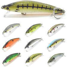 5PCS Mix Fishing Lure Floating Minnow artifial Topwater bait hook 10cm/10g