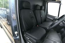 Mercedes Sprinter Seat Cover-FRONT SINGLE DRIVERS 2010+ Black TAILORED