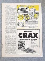 1949 Magazine Advertisement Page Educator Crax Cracker Snack Crackers Food Ad