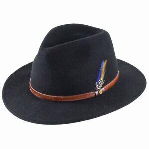 Stetson Hats Rantoul Fedora Hat - Black