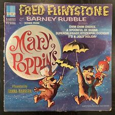 "Fred Flintstone & Barney Rubble Mary Poppins LP 1965 Vinyl Record Album 12"" 33"