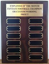 Employee of the Month/Fantasy Football/Custom Award Plaque - 9x12 Perpetual