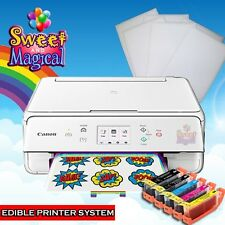 Edible Printer Bundle with Ink, 6 Frosting Sheets, Canon Wireless TS5020 White