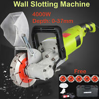 4000W Electric Wall Slotting Machine Groove Grooving Chaser Cutting Cutter 37mm