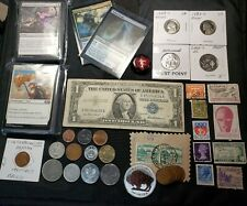 Junk Drawer Lot 🇺🇸 1oz Silver Buffalo .999, Proof, Magic Cards, World coins, W