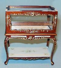 BESPAQ WALNUT DELUXE SHOW CASE DOLLHOUSE FURNITURE MINIATURES ON SALE