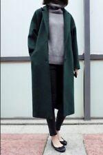 Ouruoti Korean oversized style forest dark green coat M L 10 12