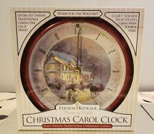 Vintage Thomas Kinkade Painter of Light Christmas Carol Clock 1990