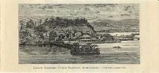 Stampa antica KANAGAWA panorama Giappone Japan 1894 Old antique print