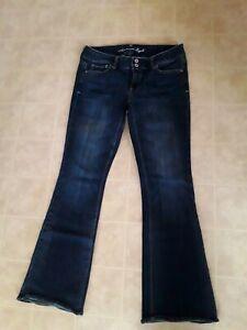 American Eagle Artist Low Rise Stretch Denim Jeans Women's Sz 8 Reg Dark Wash