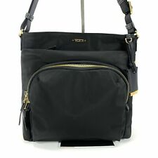 Tumi Voyageur Capri Crossbody Shoulder Bag Black Nylon with Gold Hardware 484785