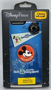 Disney Otterbox iPhone 7 8 Plus WDW Mickey Mouse Passholder FL Pop Grip + Case