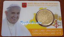 COIN CARD 2017 VATICANO 50 cent COAT OF ARMS Coincard - STEMMA BLASON VATICAN BU