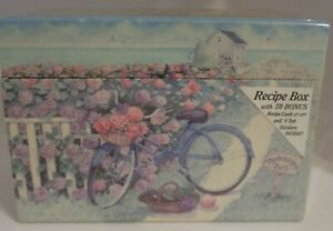 Bonnie Heppe Fisher Art - Legacy Recipe Box with 50 Cards - Hydrangeas - NEW